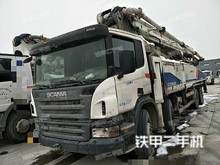 江苏-泰州市二手中联重科四桥56米斯坦尼亚泵车实拍照片
