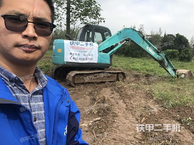 湖北荆州市神钢SK75-8挖掘机