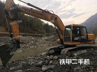 安康現代R225LC-7挖掘機實拍圖片