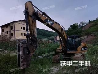 四川-广安市二手卡特彼勒320D液压挖掘机实拍照片