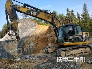 湖南-湘西土家族苗族自治州二手卡特彼勒320D液压挖掘机实拍照片