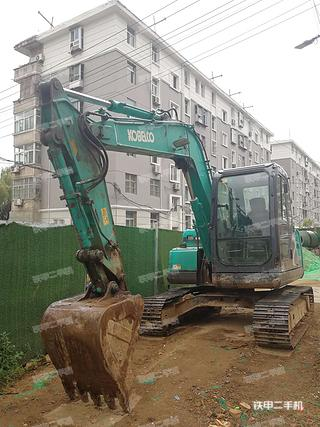 陕西-西安市二手神钢SK75-8挖掘机实拍照片