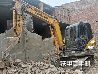 四川-内江市二手柳工CLG906D挖掘机实拍照片