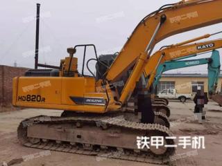 宝坻加藤HD820R挖掘机实拍图片