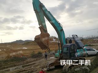 四川-绵阳市二手神钢SK350LC-8挖掘机实拍照片