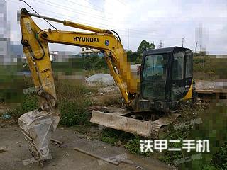 广西-河池市二手现代R60-7挖掘机实拍照片