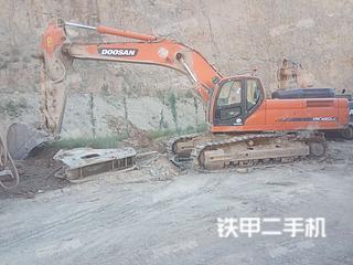 陕西-铜川市二手斗山DX420LC挖掘机实拍照片