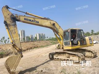 安徽芜湖市二手小松PC200-7挖掘机实拍照片