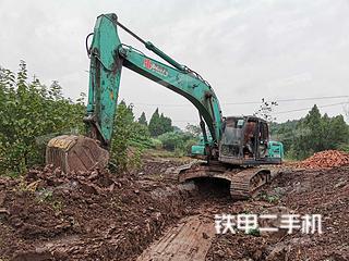 四川-资阳市二手神钢SK260LC-8挖掘机实拍照片
