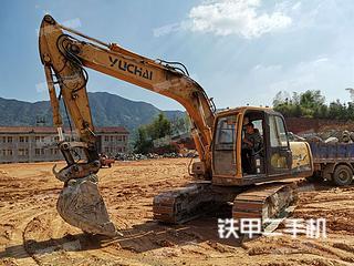 湖南-岳阳市二手玉柴YC135-8挖掘机实拍照片