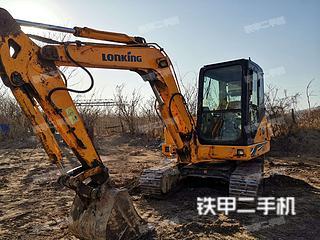 保定龙工LG6065挖掘机实拍图片