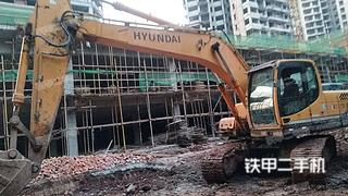 四川-南充市二手现代R215-9挖掘机实拍照片