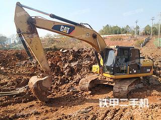 湖南-株洲市二手卡特彼勒320D液压挖掘机实拍照片