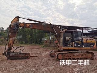 广东-韶关市二手卡特彼勒320D液压挖掘机实拍照片