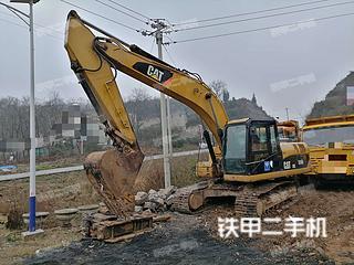贵州-安顺市二手卡特彼勒320D液压挖掘机实拍照片