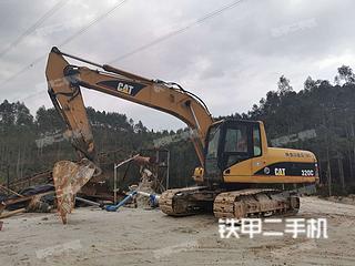 广东-韶关市二手卡特彼勒320C挖掘机实拍照片
