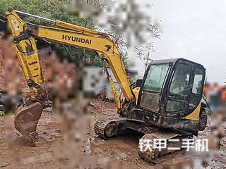四川-内江市二手现代R60-7挖掘机实拍照片