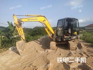 广西-防城港市二手现代R60-7挖掘机实拍照片