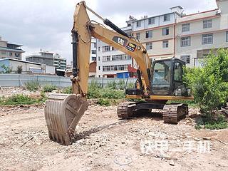 云南-楚雄彝族自治州二手卡特彼勒313D2GC小型液压挖掘机实拍照片