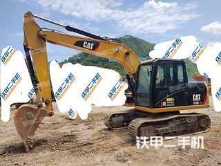 广西-河池市二手卡特彼勒313D2GC小型液压挖掘机实拍照片