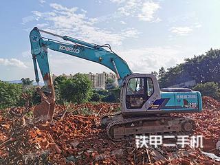 广东-韶关市二手神钢SK200-6E挖掘机实拍照片
