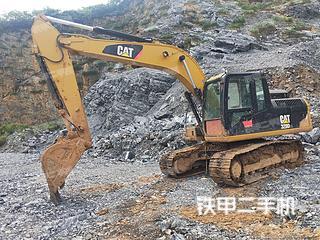 卡特彼勒318D2L小型液壓挖掘機實拍圖片
