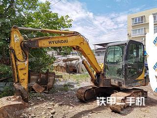 四川-广元市二手现代R60-7挖掘机实拍照片
