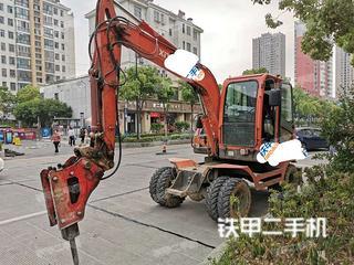 阜陽新源XY75W-9挖掘機實拍圖片