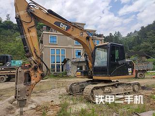 湖南-邵阳市二手卡特彼勒313D2GC小型液压挖掘机实拍照片