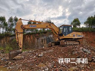 加藤HD700挖掘机实拍图片