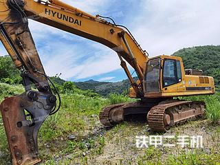 現代R455LC-7挖掘機實拍圖片