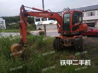阜陽新源XY75W-8挖掘機實拍圖片