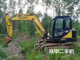 山东-日照市二手现代R60-7挖掘机实拍照片