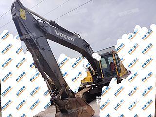 山东-枣庄市二手沃尔沃EC210B挖掘机实拍照片