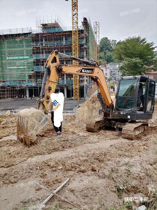 广东-肇庆市二手三一重工SY55C挖掘机实拍照片