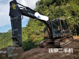 鸡西沃尔沃EC120D挖掘机实拍图片