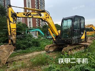 镇江现代R60-7挖掘机实拍图片