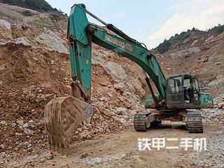 贵州-安顺市二手神钢SK350LC-8挖掘机实拍照片