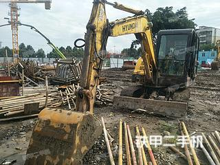 四川-眉山市二手现代R60-7挖掘机实拍照片