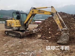 四川-雅安市二手现代R60-7挖掘机实拍照片
