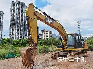 南宁卡特彼勒320D2液压挖掘机实拍图片