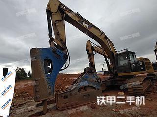 南宁卡特彼勒349D2液压挖掘机实拍图片