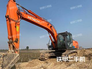 日立ZX210LC-5A挖掘机实拍图片