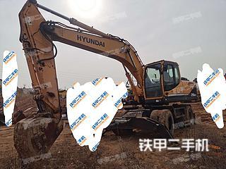 現代R210W-9挖掘機實拍圖片