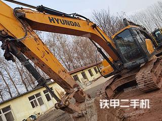 北京現代R215VS挖掘機實拍圖片