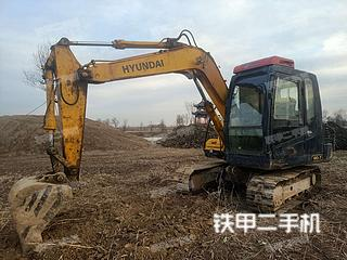 濱州現代R80-7挖掘機實拍圖片