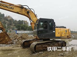 江西-九江市二手现代R215-7C挖掘机实拍照片