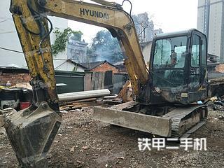 四川-眉山市二手现代R55-7挖掘机实拍照片