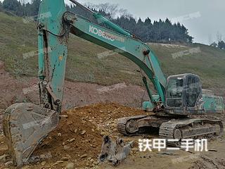 四川-南充市二手神钢SK350LC-8挖掘机实拍照片