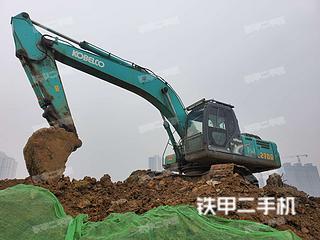 安徽-六安市二手神钢SK260LC-8挖掘机实拍照片